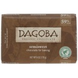 [Dagoba Organic Chocolate] Chocolate Baking Products Semi Sweet, 59% Cacao  At least 95% Organic