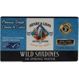 [Henry & Lisa`S] Canned Seafood Wild Sardines in Spring Water