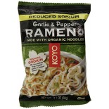 [Koyo] Ramen Noodles Garlic Pepper, Reduced Sodium  At least 70% Organic