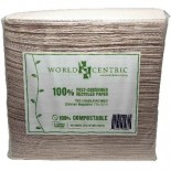 [World Centric] Compostable Dinnerware Dinner Napkins, 2 Ply 15x17