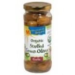 [Mediterranean Organic] Olives Green Stuffed w/ Garlic  At least 95% Organic