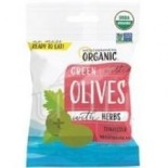 [Mediterranean Organic] Olives Green, Pitted w/Herbs  At least 95% Organic