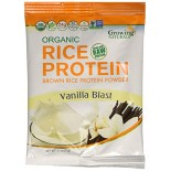 [Growing Naturals] Rice Protien Powder Single Serve Vanilla Blast, Vegan  At least 95% Organic