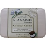 [A La Maison] French Solid Bar Soap Coconut Creme