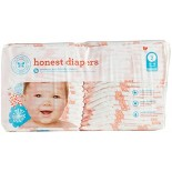 [The Honest Co]  Diapers, Giraffes Size 2 S/M