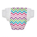 [The Honest Co]  Diapers,Chevron 2 S/M