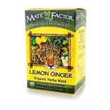 [The Mate` Factor] Yerba Mate` Tea Bags Lemon Ginger  At least 95% Organic