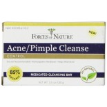 [Forces Of Nature] Medicated Cleansing Bar Acne/Pimple Cleanse  At least 95% Organic