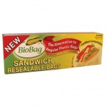 [Biobag] Compostable Resealable, Sandwich Bags