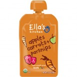 [Ella`S Kitchen] Baby Food Stage 1-Pouches Carrot Apple Parsnip  At least 95% Organic