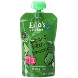 [Ella`S Kitchen] Baby Food Stage 1-Pouches Broccoli Pear Peas  At least 95% Organic