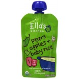 [Ella`S Kitchen] Baby Food Stage 1-Pouches Pear & Apple  At least 95% Organic