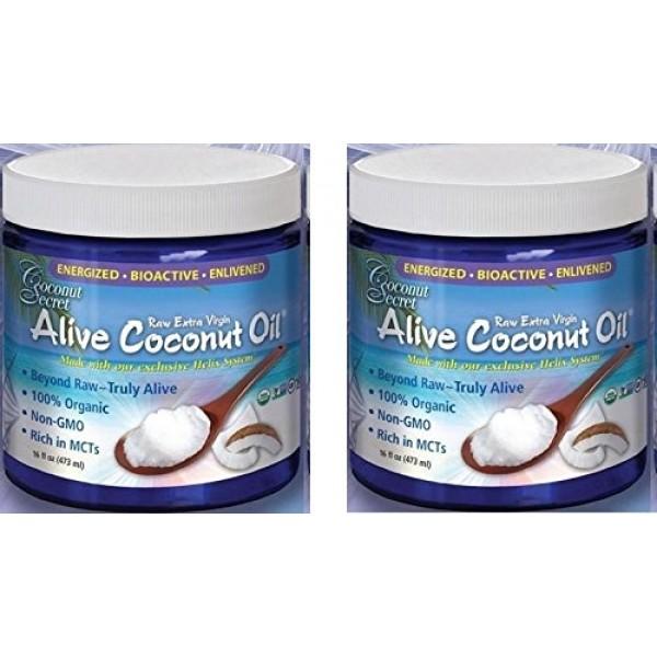 [Coconut Secret]  Coconut Oil,Alive,Extra Virgin  100% Organic