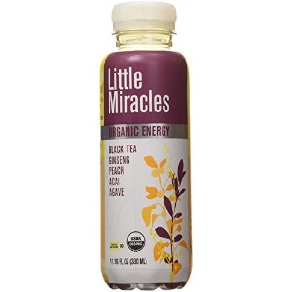 [Little Miracles] RTD Organic Energy Blk Tea/Ginseng/Pch/Acai/Agave  At least 95% Organic