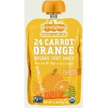 [Fruigees] Fruit Snack Sqz Pck,24 Carrot Orange  At least 95% Organic