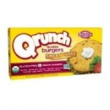 [Qrunch Foods] 4 Pack Veggie Burger, Sweet Curry