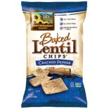 [Mediterranean Snack Food] Baked Lentil Chips Cracked Pepper