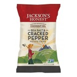 [Jacksons Honest Chips] Potato Chips-With Coconut Oil Sea Salt & Cracked Pepper