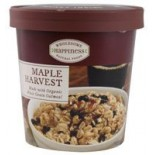 [Wholesome Happiness] Oatmeal Cups Hot Cereal Maple Harvest w/WholeGrain Oatml  At least 70% Organic