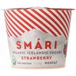 [Smari Organics] Organic Icelandic Yogurt Strawberry, NF  At least 95% Organic