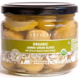 [Amphora] Olives Jumbo Green/Lemon Slices/Garlic  100% Organic