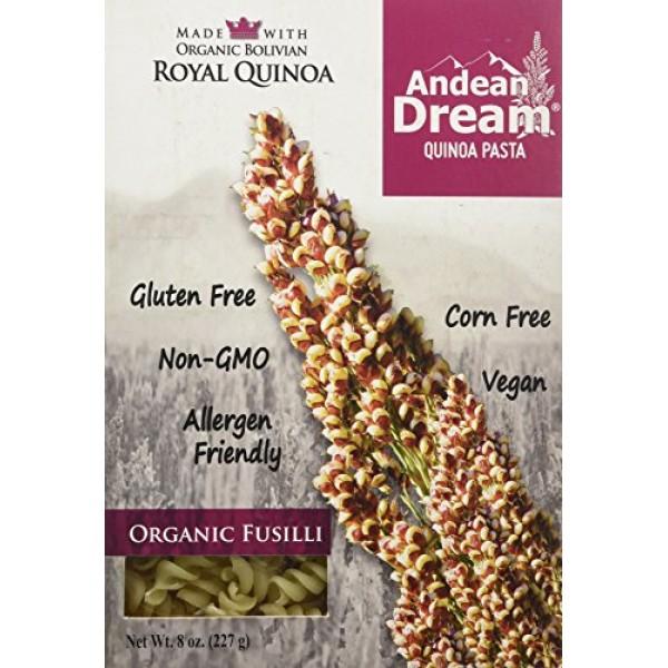 [Andean Dream] Quinoa Pasta Fusilli  100% Organic