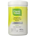 [Cleanwell] To-Go Surface Disinfectant Wipes, Botanical