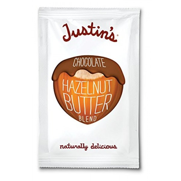 [Justin`S] Nut Butters - Individual Squeeze Packs Chocolate Hazelnut