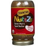 [Nuttzo] Nut Butters with Omega 3 Crunchy, Peanut Free  At least 95% Organic