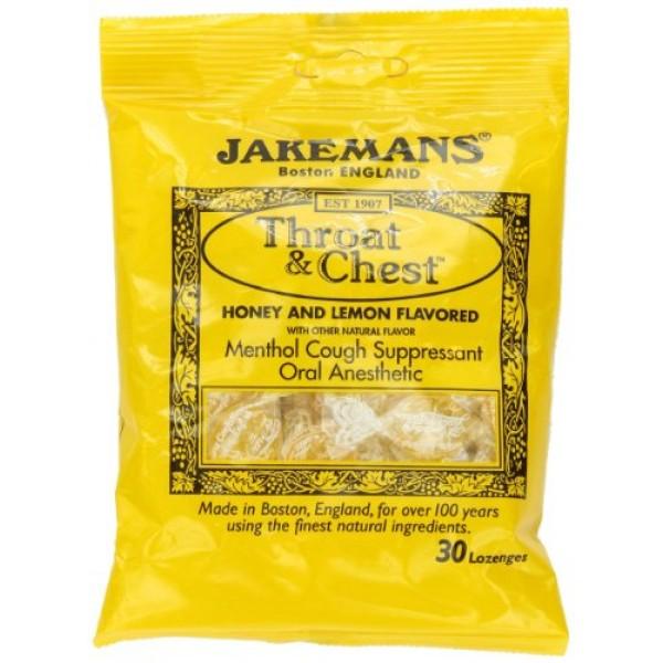 [Jakemans] Throat & Chest Lozenges Honey Lemon Menthol
