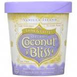 [Luna & Larrys Coconut Bliss] Coconut Milk Ice Cream Vanilla Island  At least 95% Organic
