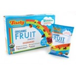 [Tasty Brand] Organic Gummy Snacks Mixed Fruit, Shelf Box  At least 95% Organic