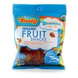 [Tasty Brand] Organic Gummy Snacks Mixed Fruit, Peg Bag in Caddy  At least 95% Organic