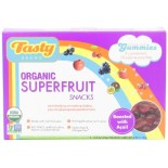 [Tasty Brand] Organic Gummy Snacks Super Fruit, Shelf Box  At least 95% Organic