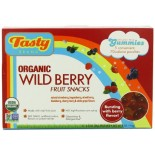 [Tasty Brand] Organic Gummy Snacks Wild Berry, Retail Box  At least 95% Organic