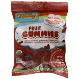 [Tasty Brand] Organic Gummy Snacks Wild Berry, Peg Bag  At least 95% Organic