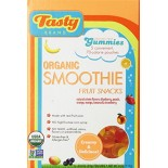 [Tasty Brand] Organic Gummy Snacks Smoothie, Retail Box  At least 95% Organic
