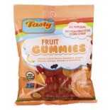 [Tasty Brand] Organic Gummy Snacks Smoothie, Peg Bag  At least 95% Organic