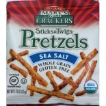[Mary`S Gone Crackers] Sticks & Twigs Sea Salt, Single Serve  At least 95% Organic