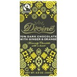 [Divine Chocolate] Chocolate Bars Dark w/Ginger & Orange