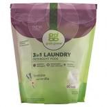 [Grab Green] 3-1 Laundry Detergent Biggie Pouch, Lavender/Vanilla